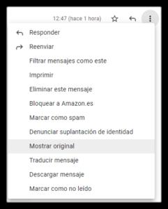 Cabecera gmail